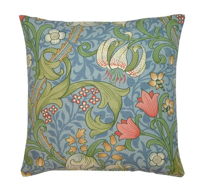1 Kudde Golden Lily Ljusblå