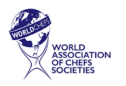 "Medlem av The World Association of Chefs' Societies ""WACS"""