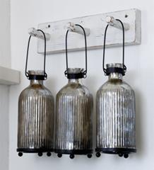 Glasflaska för värmeljus, ute eller inne
