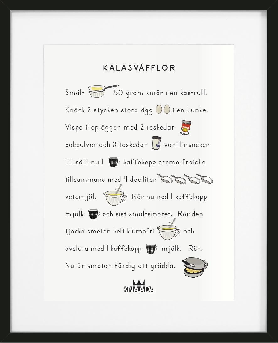 Poster Kalasvåfflor