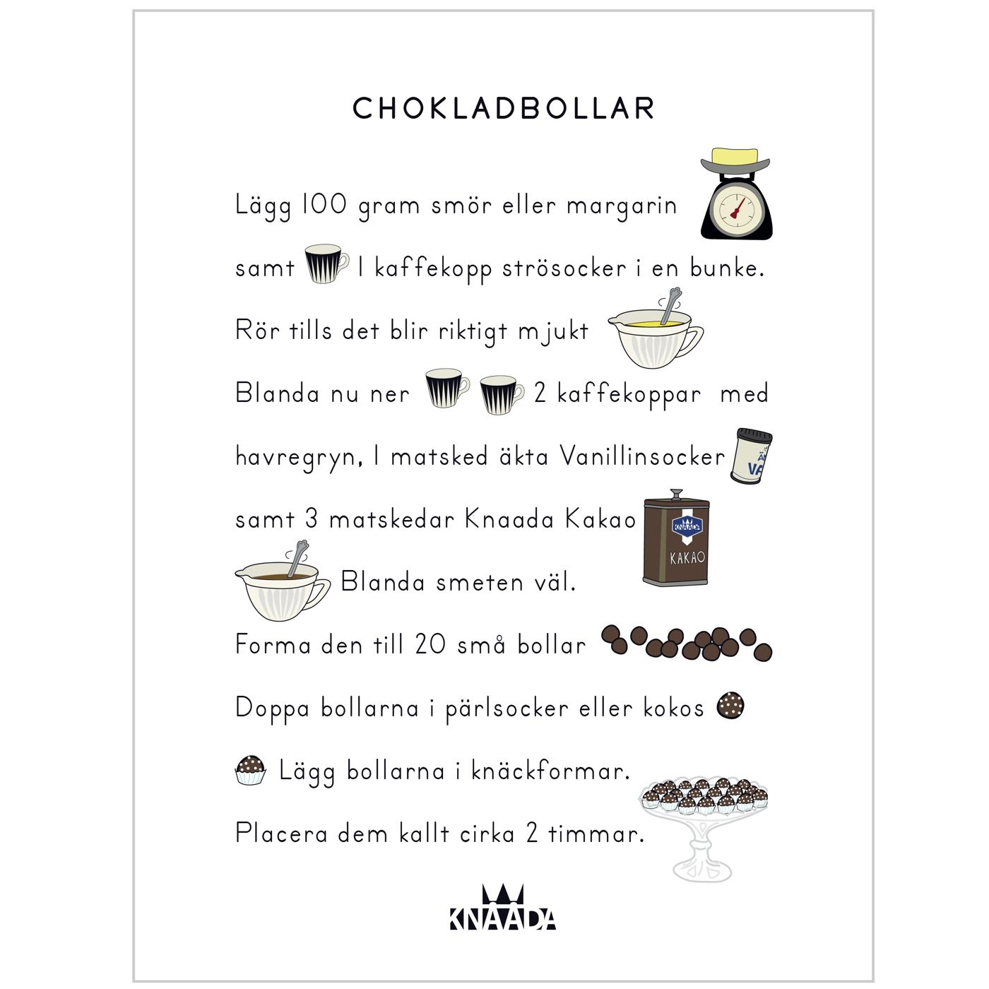 Recept Chokladbollar - Kök - Kökstavla