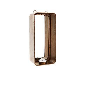 Väggljusstake guld/spegel