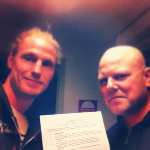 Petter Hjerpe (Morning Dwell) och Christian Liljegren (Doolittle Group)