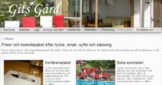 Gits Gård - hemsida, sökoptimering, fotografering, företagsblogg, företagssida på facebook, annonser mm