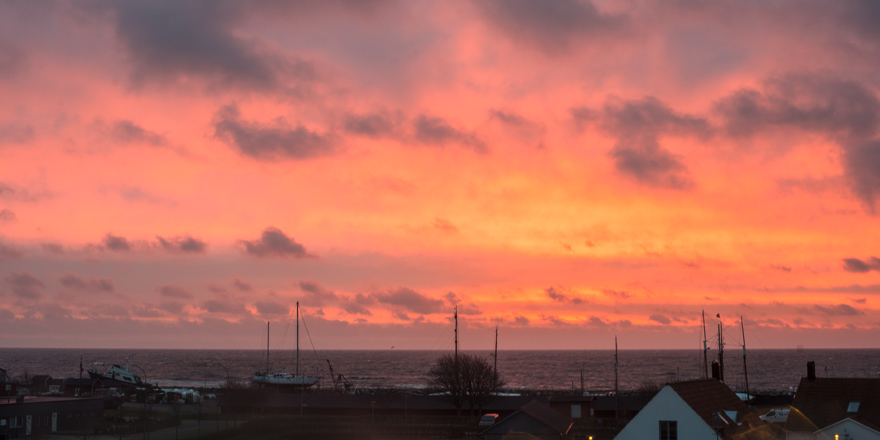 Soluppgång över Skillinge hamn