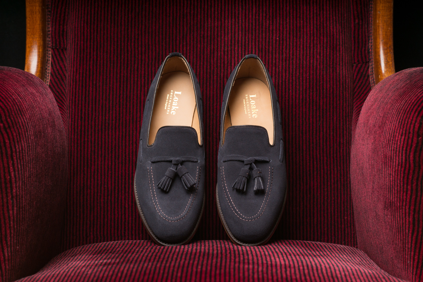 Loake Lincoln Navy Suede
