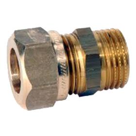 VVS-koppling utv gänga/klämring - Rak skarv R25/22mm kläm