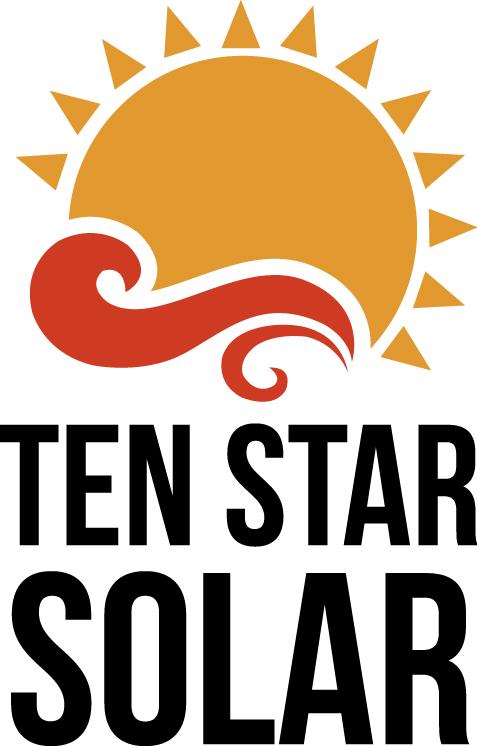 Ten Star Solar logga stående