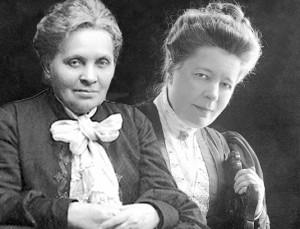 Elfrida Andree och Selma Lagerlöf. Fotomontage