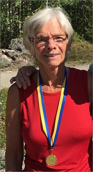 Britt-Linnea Eriksson, Sala OK, Mästare i klassen D65, sprint-och medeldistans