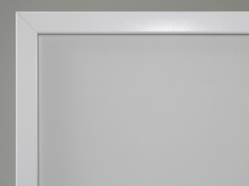 Aluram 10mm vit rektangulära