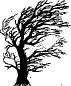 Encaustic Art - Stämpel - Vindblåst Träd