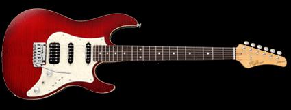FGN Odyssey 2015 års modell med svarta Seymour Duncan mickar och 22 band.