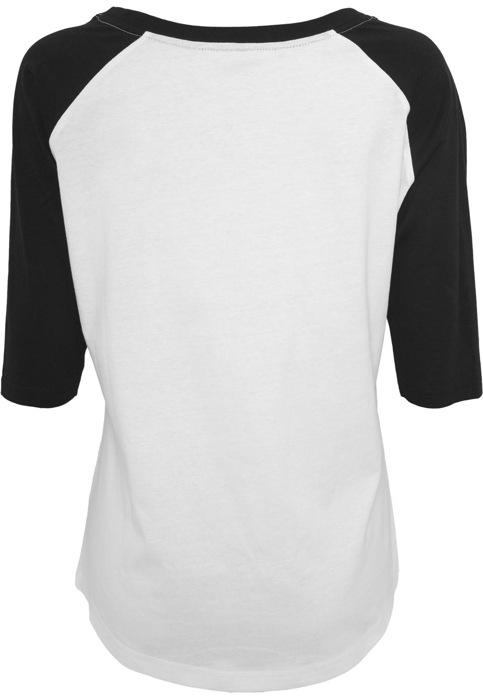 Ladies Ramones Circle Raglan Tee - white/black