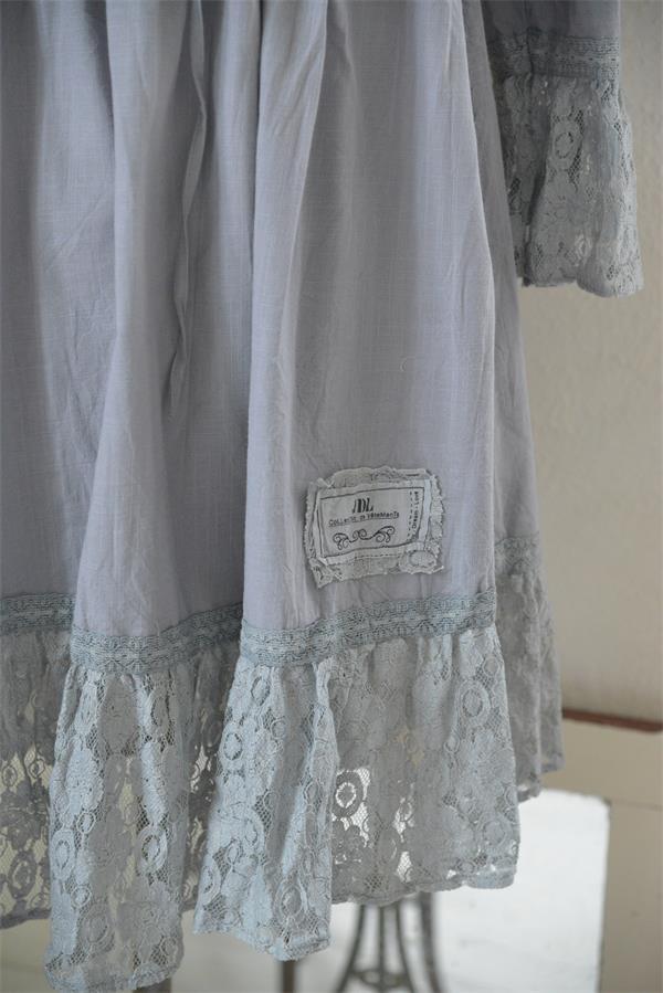 jdl klänning gråblå vintage moods
