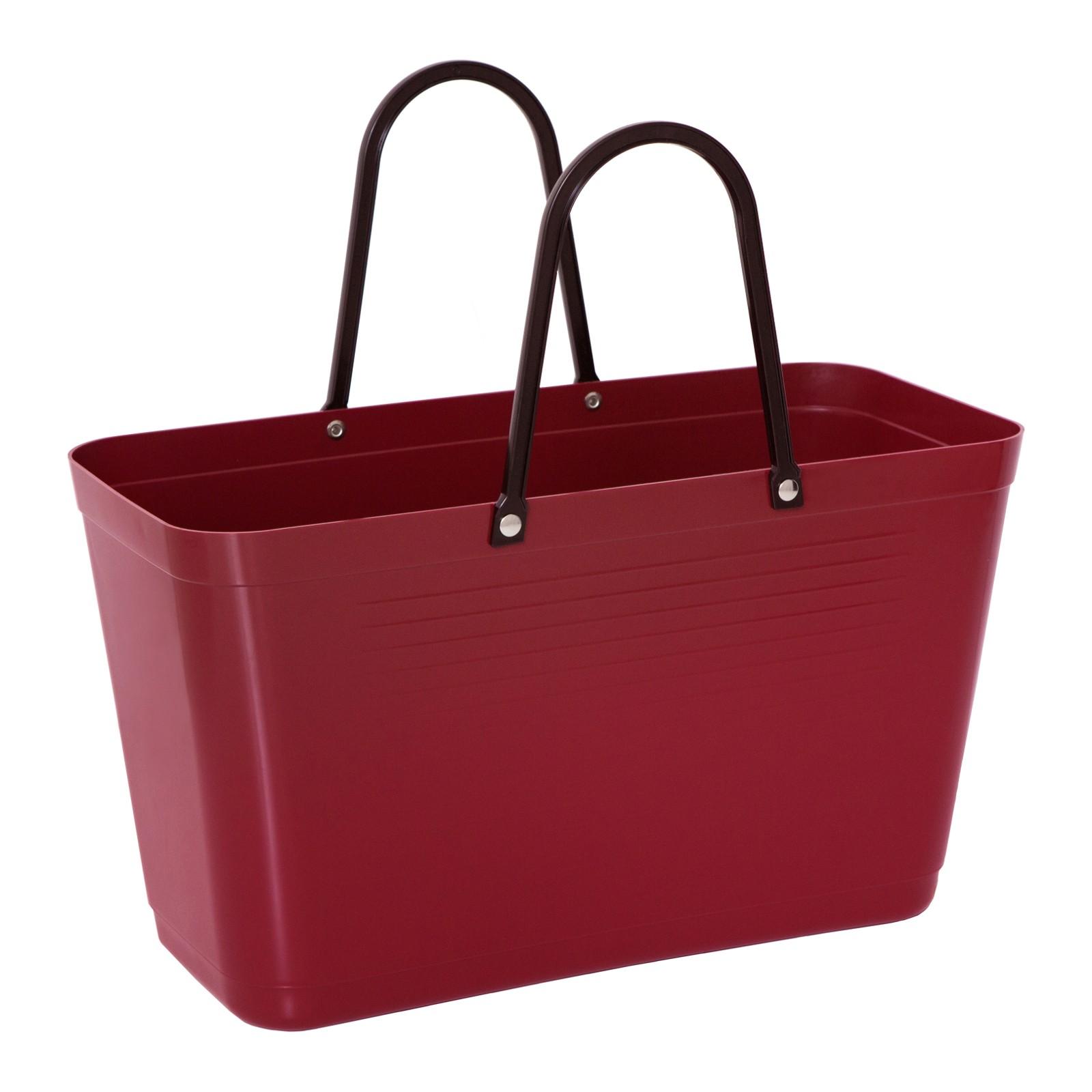 hinza 057-hinza-bag-large-maroon-green-plastic