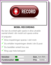 Applion Mobil recording