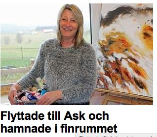 I Ask kan du dessutom beöka vår kollega, konstnären Susanne Jardebäck som är med på samma konstrunda och i samma tidning