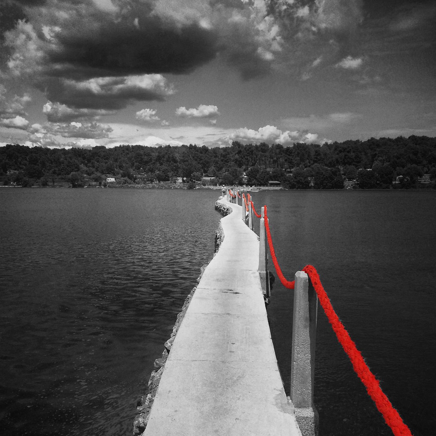 Gång med röd tråd .. kopiera