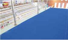 """TeBeEss. En matta som hellimmas mot underlaget. Hög friktion och med den där känslan som man har av  """"3M-tejp"""". Finns i många färger och levereras antingen i rulle eller i rutor."""