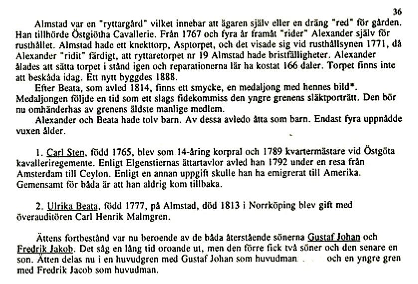 """Sidor ur """"Ätteboken"""" av Erik Funck med hjälp av sonen Claes Funck och Carina Olsson i Upplands Väsby färdig 1993. Claes Funck copyright"""