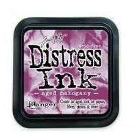 Distress ink aged mahogny