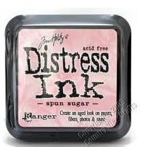 Distress ink spun sugar
