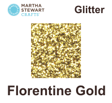 Hobbyfärg glitter Florentine gold -
