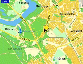 Klicka på kartan för att komma till Eniros sida